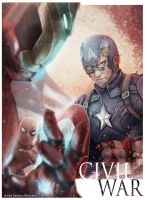 Civil War Captain America by andytantowibelzark