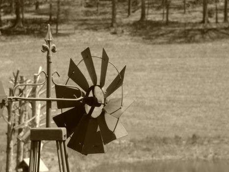 Sepia Windmill by cjmartin87