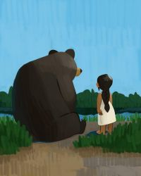 Anna and Bear by atomicman