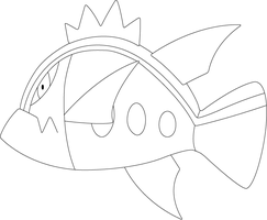 Lineart of Basculin with Blue Striped