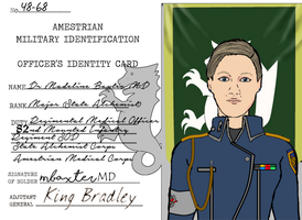 Major (Dr) Baxter Military ID Card by docwinter