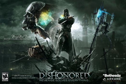 Dishonored Video Game Poster by MistressDead