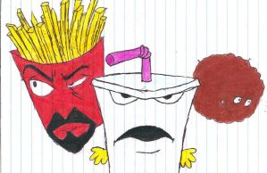 Aqua Teen Hunger Force Drawing by Spikiepenguin7