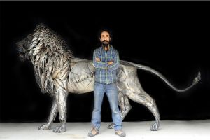 METAL LION SCULPTURE BY SeLCUK YILMAZ by selcukk