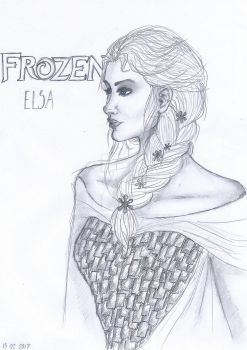 Elsa Frozen by Ecna-Tsonc