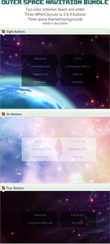 Custom box: Outer space navigation bundle (CSS) by UszatyArbuz
