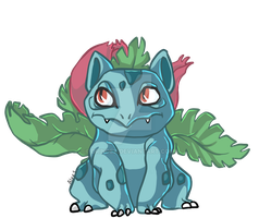 Daily pokemon Day 2 : 002 Ivysaur by Drindex