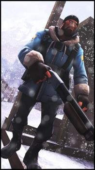 Blue Soldier in the snow by ArcticAvenger20