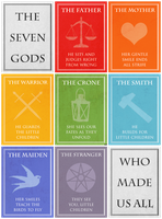 ASoIaF - The Seven Gods by black-lupin