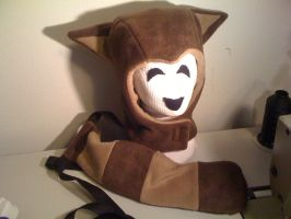 TANUKI SUIT Hood and Tail Set by tacksidermia