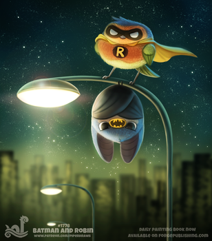 Daily Paint 1778# Batman and Robin by Cryptid-Creations