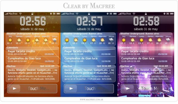 IntelliScreen Skin Theme Clear by Macfree