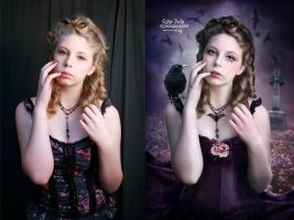 Gothic Doll - Before and After by EstherPuche-Art