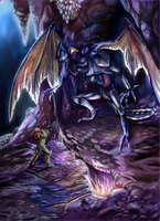 Samus vs. Meta Ridley-take2 by Flama-foxangel