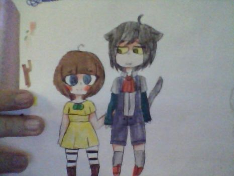 Fran Bow and mr midnight (Human???) by Dark-Apple204