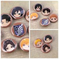 SNK - Attack on Titan Button by melina-m