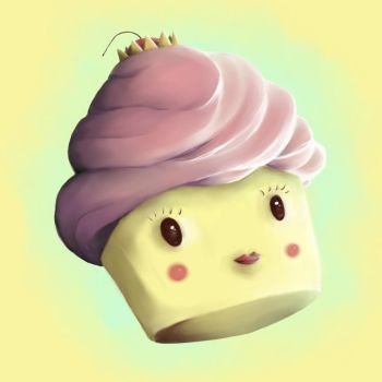 Princess cupcake by Jacquesmarcotte