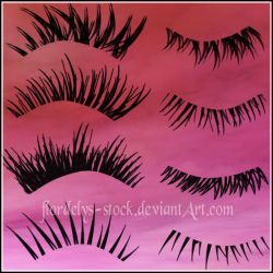 Lashes_II by flordelys-stock