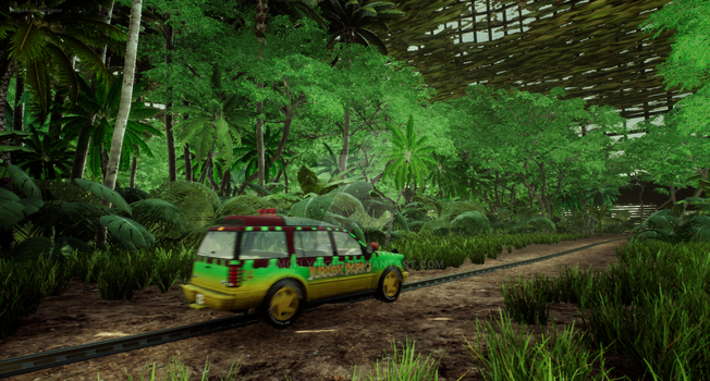 Jurassic Park inside the Aviary Unreal by Mcflyhigh1