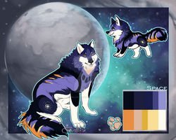 Space Wolf adoptable (auction)// CLOSED by Belliko-art