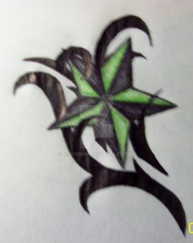 black and green star by aepyro666
