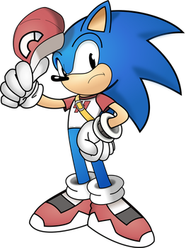 Classic Sonic the Hedgehog (Red's Older Version) by PhillLord