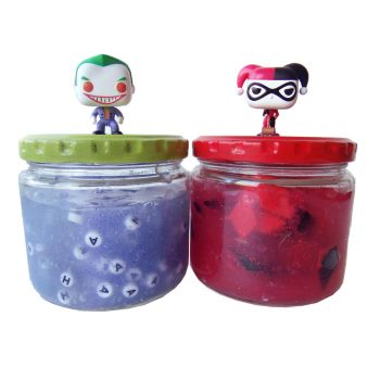 Make Harley Quinn and Joker Slime Recipes by geekymcfangirl