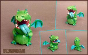 Baby Dragon - Clash Royale FANART - Clay Sculpture by buzhandmade