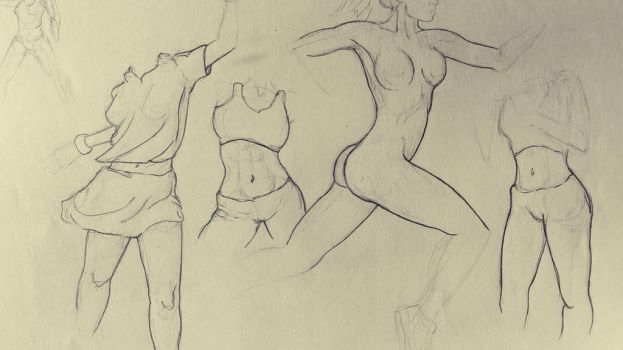 female body study by iidontknoww