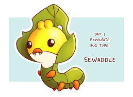 Pokeddexy Day 01 - Sewaddle