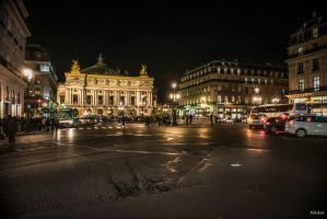 Paris the city of lights - midnight by Rikitza