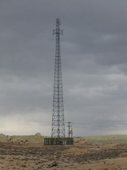 Radio Mast in the Desert by fuguestock