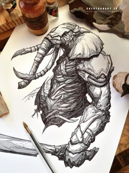 #creatuanary Day 29: #elephant #warrior by Dibujante-nocturno