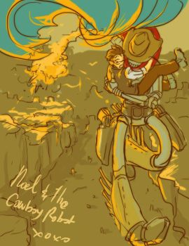 noel and the cowboy robot by jinguj