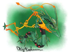 MEGA RAYQUAZA - fan made Artwork