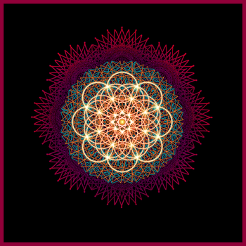 Digital Mandala by Zwartmetaal