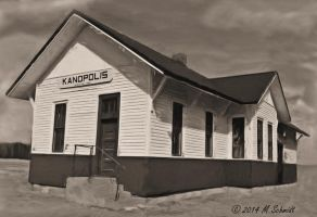 2Kanopolis Kansas Depot 1582 Feet 24March2014 by MSchmidtProductions