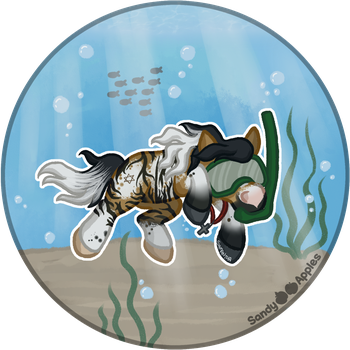Squishie Scene - Snorkelling by Sandy--Apples