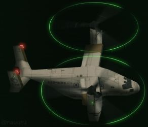 V-22B UPEO livery -Prop Light/Movement Test- by RauuruKun