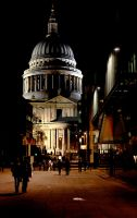 St Paul's Cathedral at Night by shhhhh-art