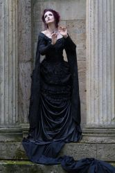 Stock - Victorian gohtic woman magic pose by S-T-A-R-gazer