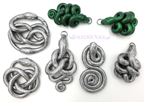 Snake Pendants by ValkyrieVale