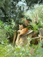 Cat guardian by Chewfie