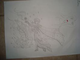 Elsa and a dolphin for my little cousin by zoccu
