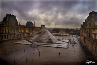 Dark Day at the Louvre by NoiseElectric