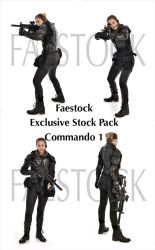 Commando - Exclusive Stock Pack 1 by faestock