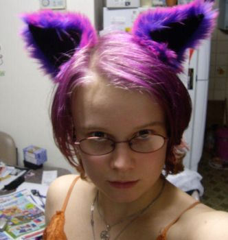Cheshire Cat Ears - Worn by MorbidPrincess122