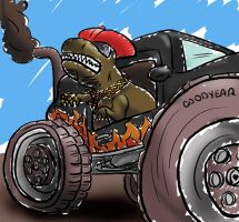 Chav Rex Card Commission by Iddstar