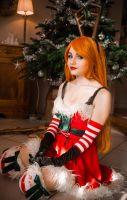 Slay Belle Katarina cosplay from League of Legends by LadySundae