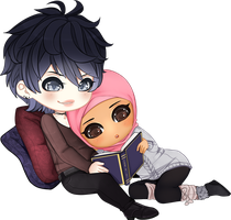 Chibi Couple Comm - GROUP COMM #5 by x-Cute-Kitty-x